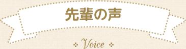先輩の声1
